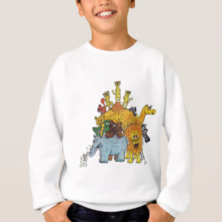 Here a group of animal some big and some tall sweatshirt