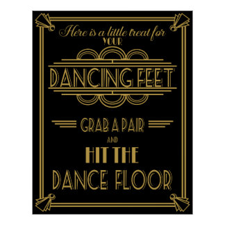 Here a Treat for your Dancing feet poster