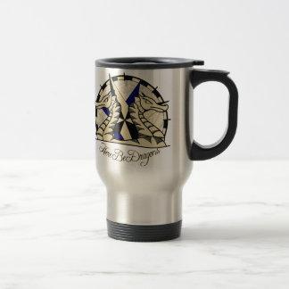Here Be Dragons - Reusable Travel Mug