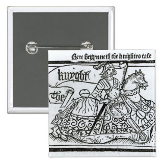 'Here Begynneth the Knightes Tale' 15 Cm Square Badge