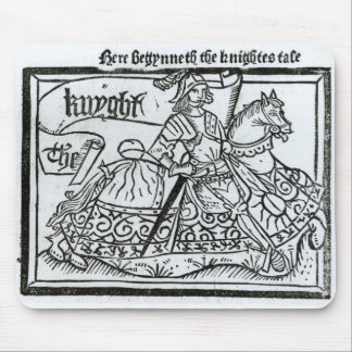 'Here Begynneth the Knightes Tale' Mouse Mat