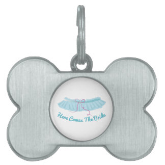 Here Come Bride Pet Tags