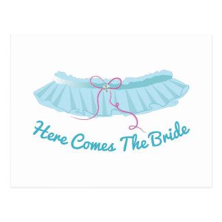 Here Come Bride Postcard