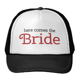 Here come the Bride Trucker Hats
