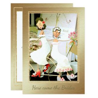 Here Come the Brides Wedding Invitation