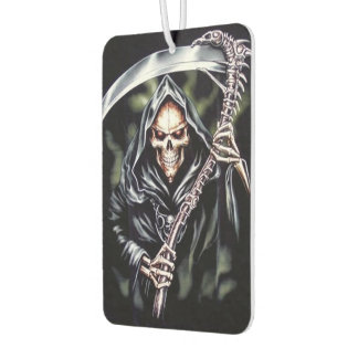 Here Comes Grim Car Air Freshener
