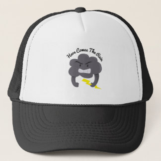 Here Comes Rain Trucker Hat
