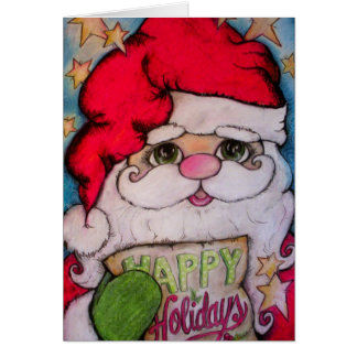 Here Comes Santa Claus Greeting Card