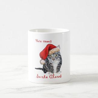 Here Comes Santa Claws Coffee Mugs