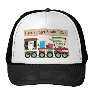 Here comes Santa train Hat