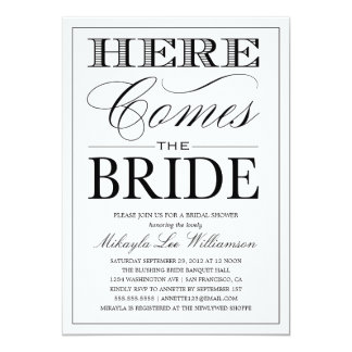 HERE COMES THE BRIDE 2 | BRIDAL SHOWER INVITATION