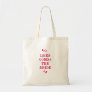 Here Comes The Bride Canvas Bags
