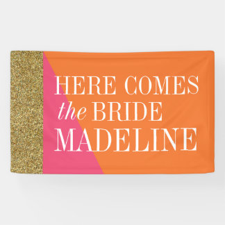Here Comes the Bride Banner, Bridal Shower