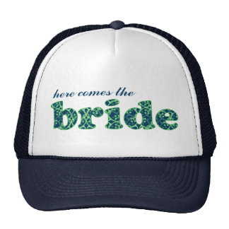 """""""Here comes the Bride"""" Blue Berry Clusters Hat"""