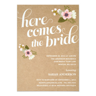 HERE COMES THE BRIDE | BRIDAL SHOWER INVITATION
