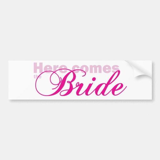 Here Comes the Bride Bumper Sticker
