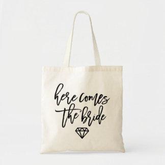 Here Comes The Bride Diamond Tote Bag