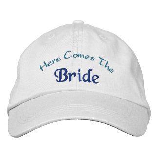 Here Comes The Bride Embroidered Baseball Caps