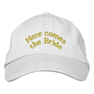 Here Comes the Bride Embroidered Hat