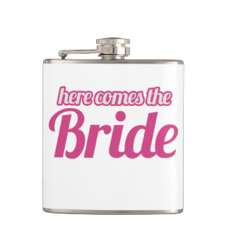 Here comes the Bride Hip Flask