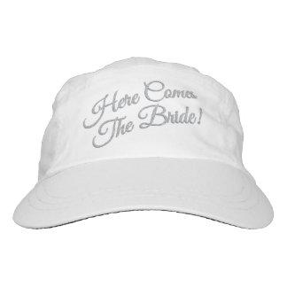 Here Comes The Bride Glitter Baseball Cap