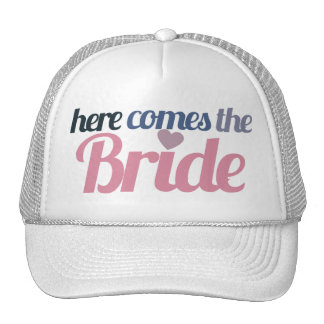 Here comes the bride mesh hat