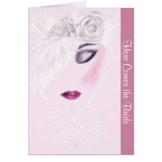 Here Comes the Bride Note Card