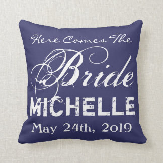 here comes the bride pillows