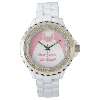 Here Comes the Bride Pink Bouquet 'Diamond' Watch