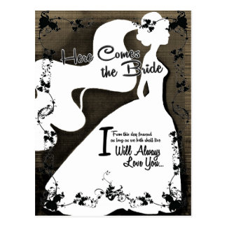 Here Comes the Bride Post Card