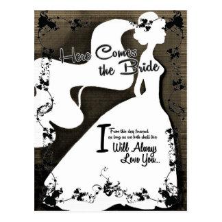 Here Comes the Bride Postcard