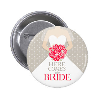 Here comes the bride rehearsal wedding red button