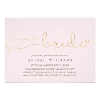 Here comes the bride -shower invitation