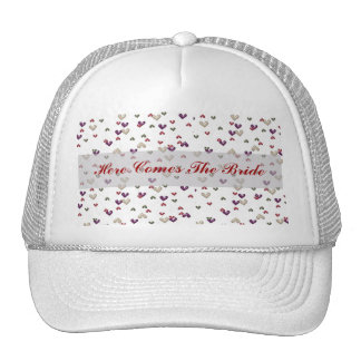 HERE COMES THE BRIDE WEDDING BALL CAP TRUCKER HATS