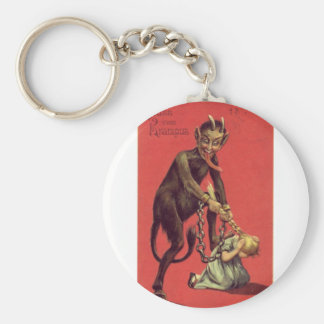 Here Comes The Krampus! 2 Basic Round Button Key Ring