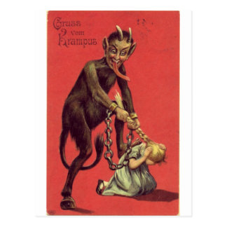 Here Comes The Krampus! 2 Postcard
