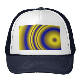 Here comes the sun computer-generated gradient hat