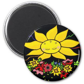 Here Comes the Sun Ukrainian Folk Art Magnet