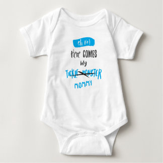 Here Comes the Tickle Monster - Mommy! (For Boys) Baby Bodysuit
