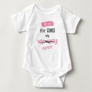 Here Comes the Tickle Monster - Mommy! (For Girls) Baby Bodysuit