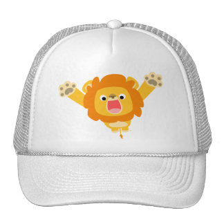 Here comes Trouble (cute cartoon Lion) hat