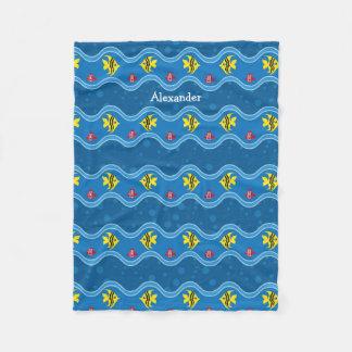 Here Fishy Fishy Kids Fleece Blanket