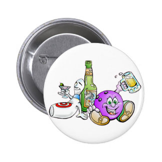 Here for the Beer! 6 Cm Round Badge