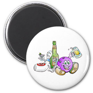 Here for the Beer! 6 Cm Round Magnet