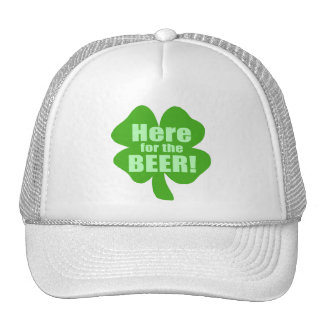 Here For The Beer Mesh Hats