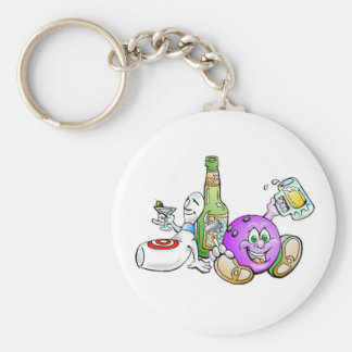Here for the Beer! Key Ring