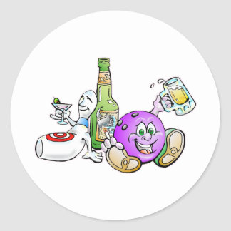 Here for the Beer! Round Sticker