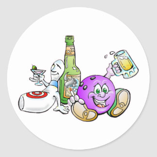 Here for the Beer! Classic Round Sticker