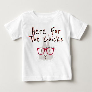 Here for the chicks! Easter Spring Boy Rabbit Baby T-Shirt