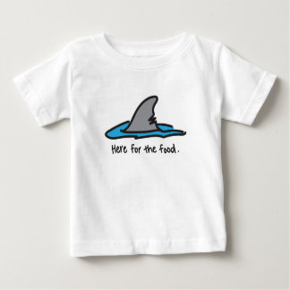 """Here For The Food"" Shark Tee"